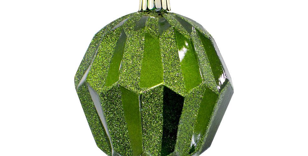 Шар D13 см, пластик, зелёный