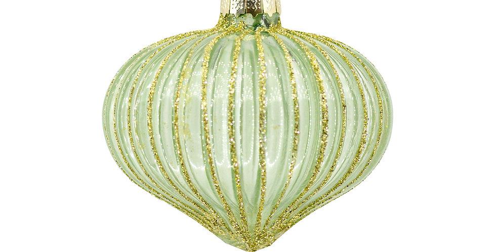Шар ЛУКОВИЦА H8 см, стекло, светло-зелёный