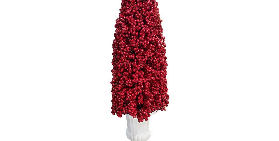 КОНУС из ягод 130х35 см, пенопласт, красный