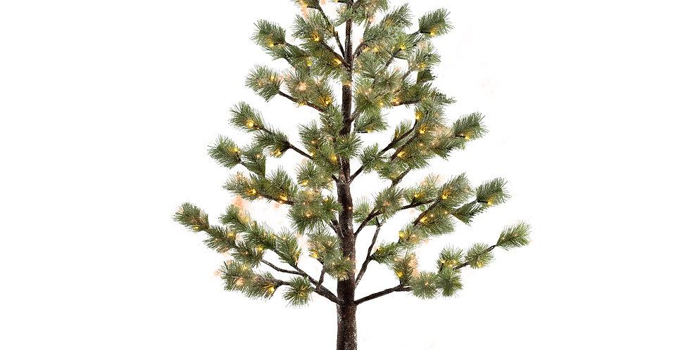 Дерево LED, металл/пластик, зелёный