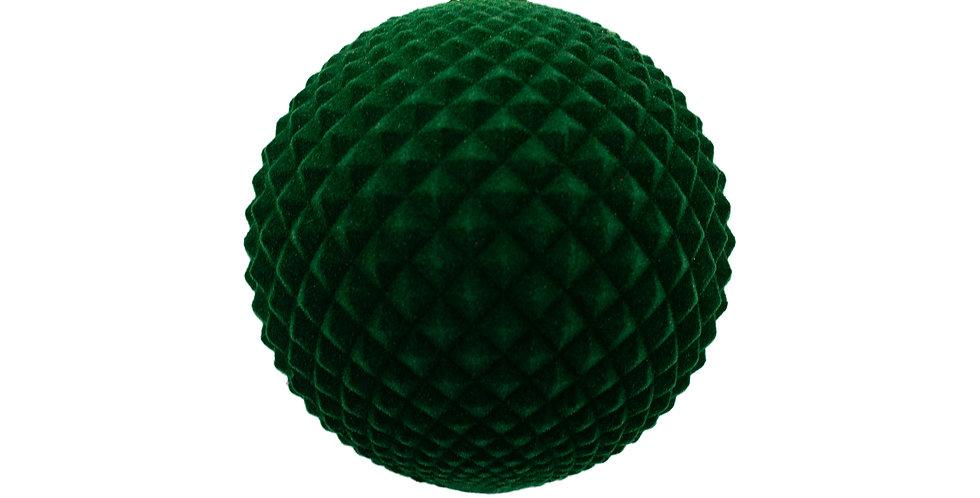 Шар Дуриан флокированный, цвет Темно-зеленый