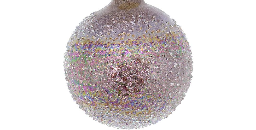 Шар засахаренный D8 см, стекло, лиловый