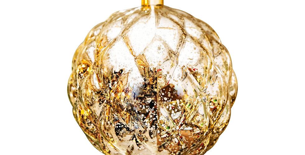Шар LED D20 см, пластик, золотой