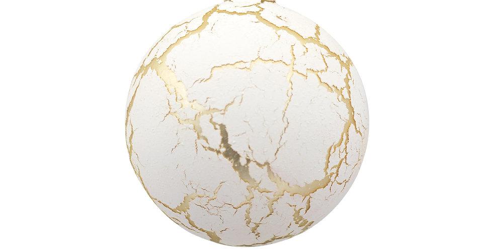 Шар D10 см, стекло, белый