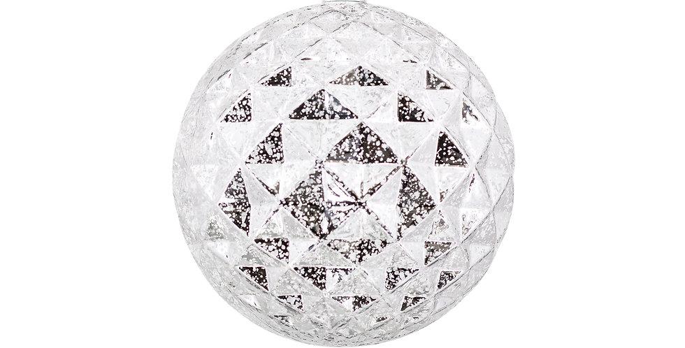 Шар LED, пластик, серебряный