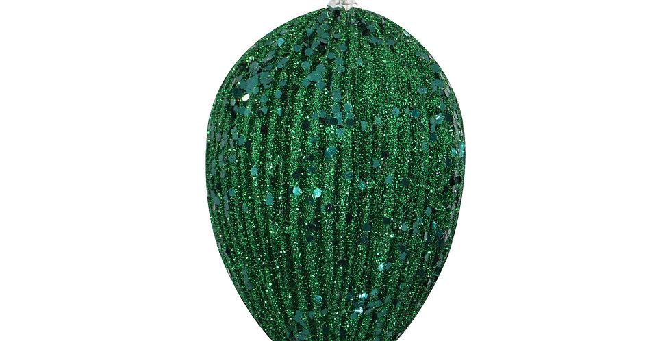 Подвес ЯЙЦО H15 см, пластик, тёмно-зелёный