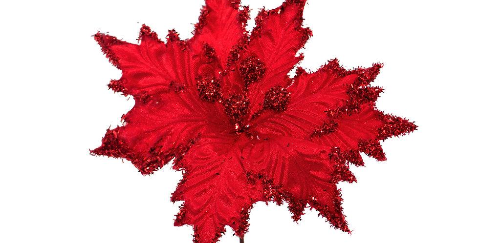 Цветок ПУАНСЕТТИЯ H30 см, красный