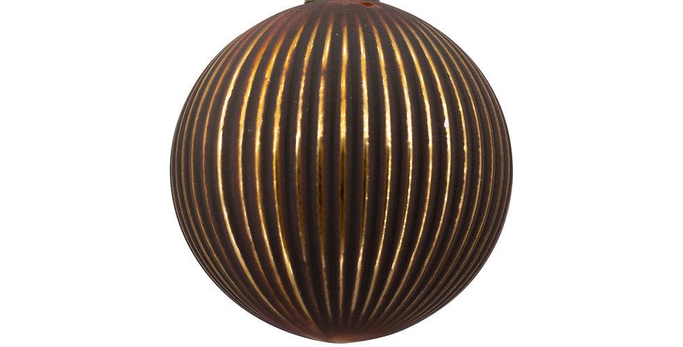 Шар D10 см, стекло, шоколодно-золотой