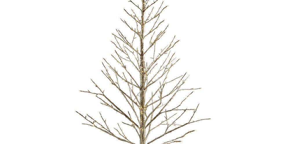 Дерево LED H210 см, в блёстках, металл/пластик, шампань
