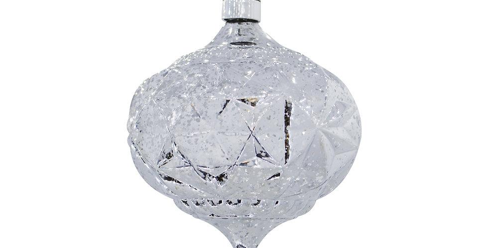 Шар LED КАПЛЯ D15 см, пластик, серебряный