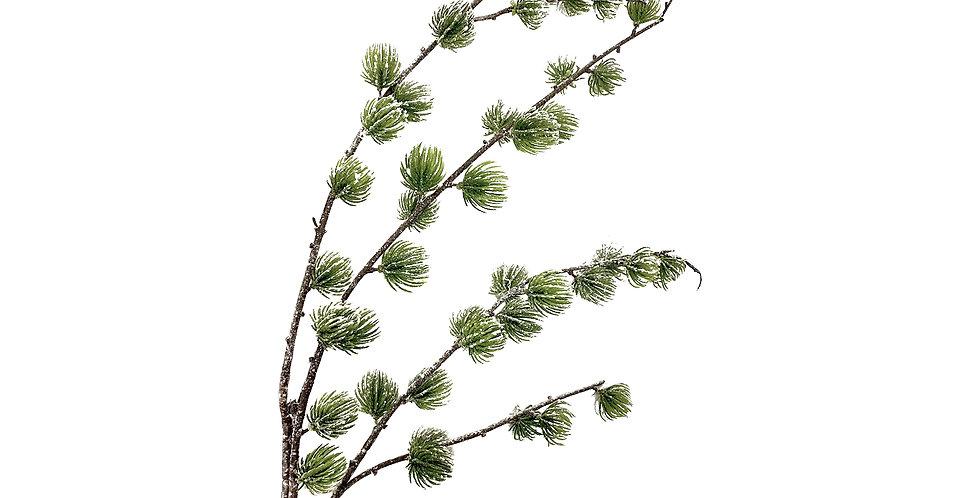 Ветвь Подокарпуса H130 см, заснеженная, пластик, зелёный