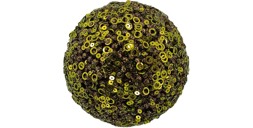 Шар D20 см, с пайетками, пенопласт, зелёный
