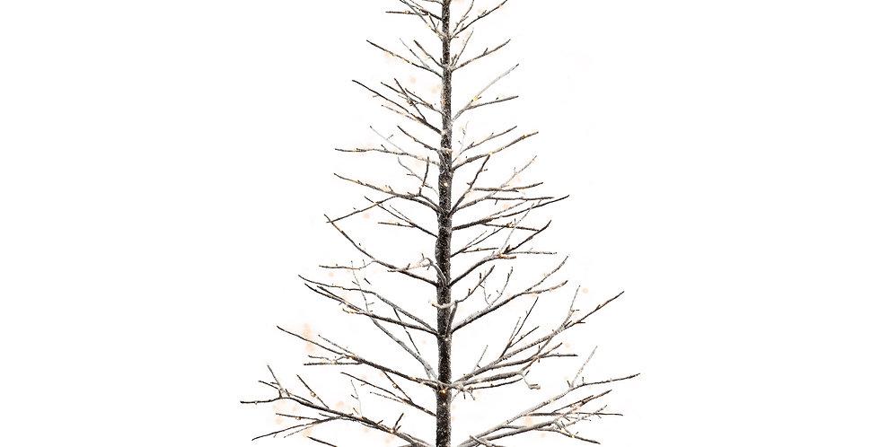 Дерево LED H180 см, заснеженное, металл/пластик, белый