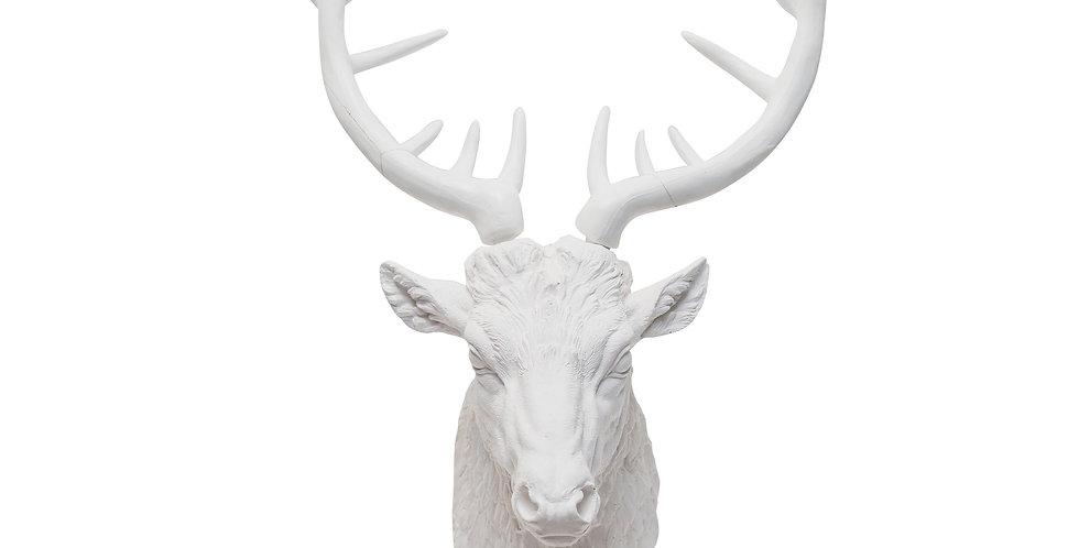 Фигура ГОЛОВА ОЛЕНЯ H80 см, пластик, белый