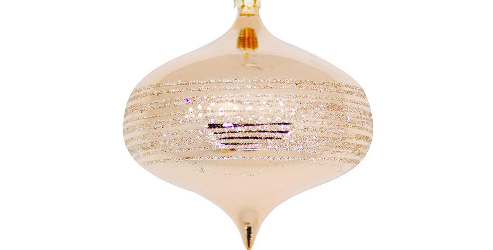 Шар ЛУКОВИЦА D10 см, пластик, нежно-розовый