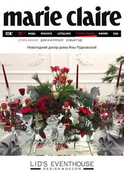 Новогодний декор дома Яны Рудковской