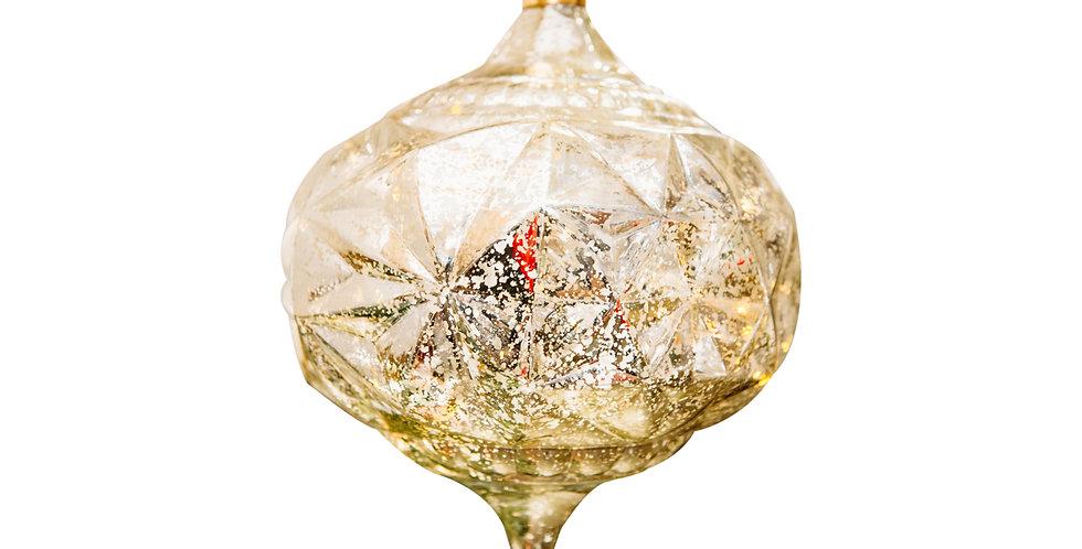 Шар LED КАПЛЯ D15 см, пластик, золотой