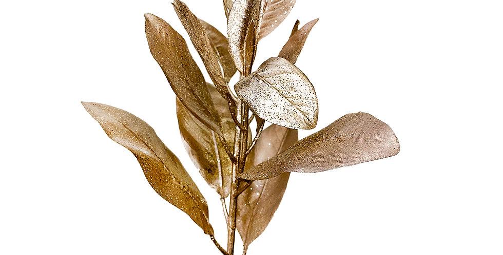 Ветвь магнолии H69 см, пластик, розово-золотой