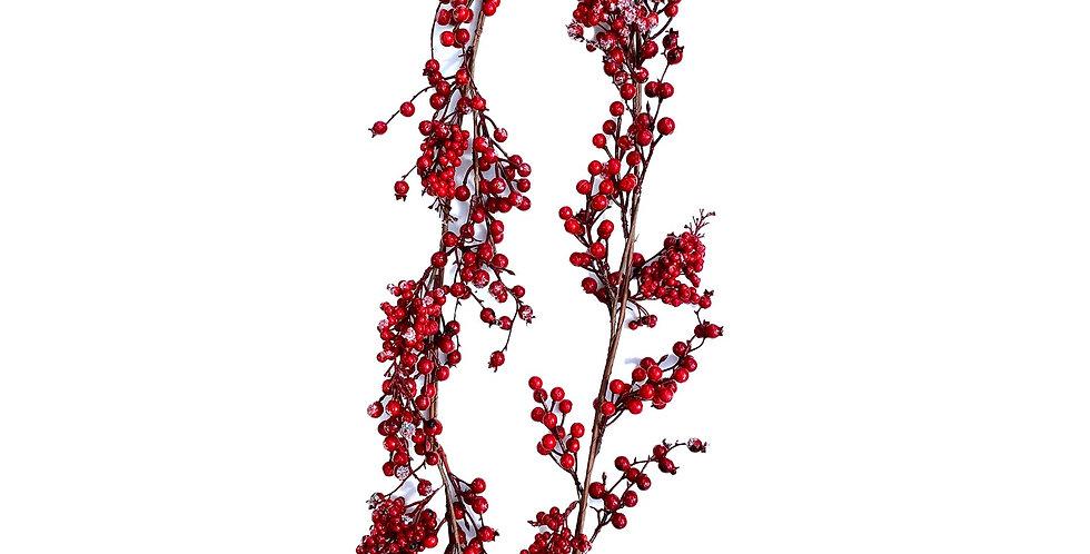 Ветка с ягодами L150 см, красный