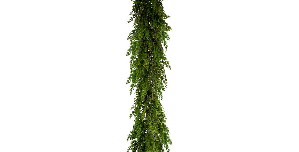 Гирлянда хвойная H180 см, подвесная, пластик, зелёный