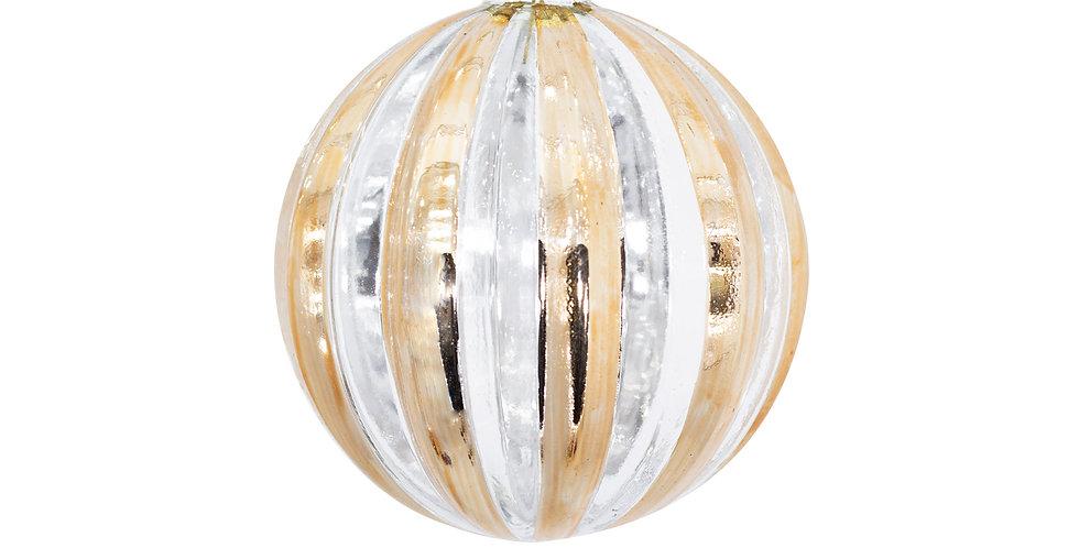 Шар D10 см, стекло, медный/серебряный