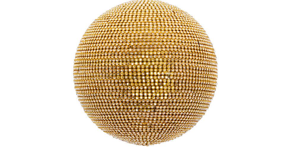 Шар D13 см, пластик, золотой
