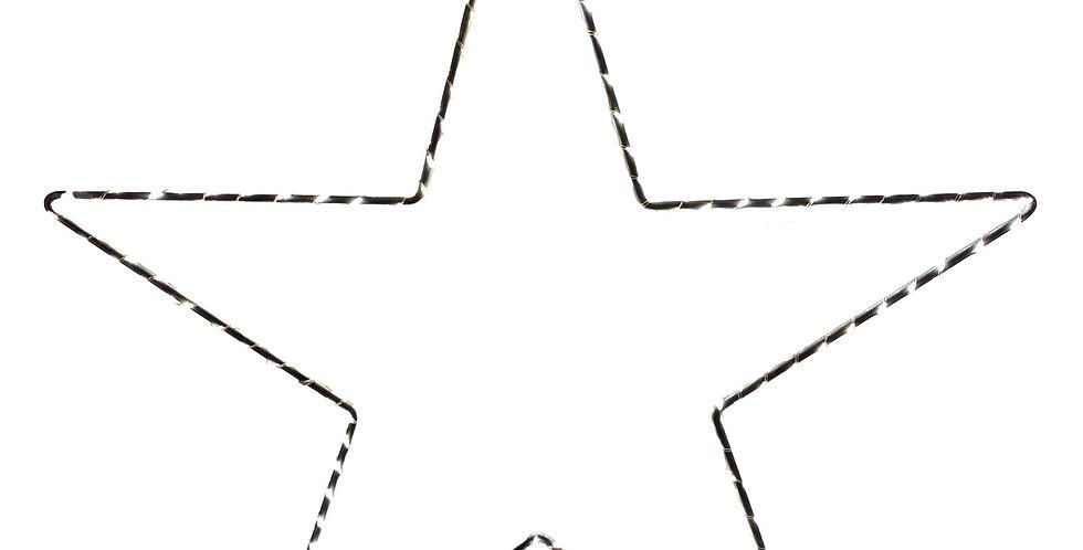 Звезда LED D40 см в наборе, 2шт, шнур 30см, серебряный