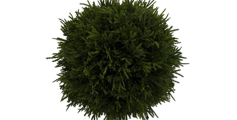 Шар хвойный D20 см, пластик, зелёный