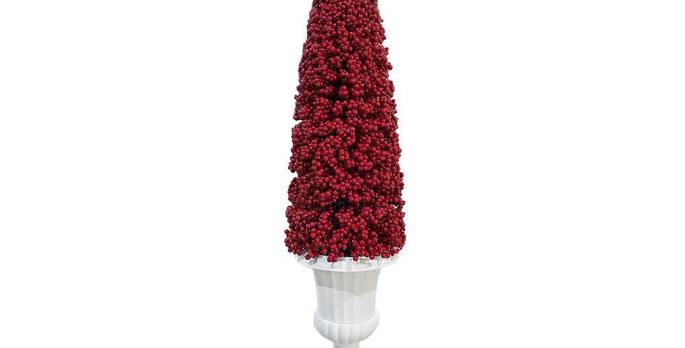КОНУС из ягод 165х40 см, пенопласт, красный