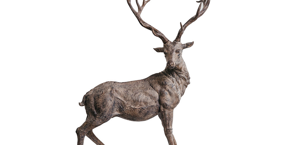 Фигура ОЛЕНЬ 61х30х82 см, пластик, серо-коричневый