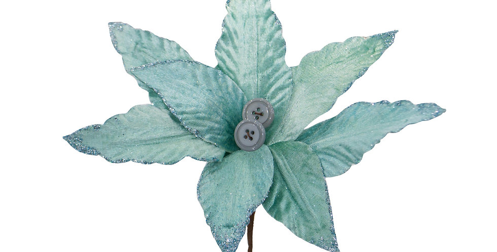 Цветок ПУАНСЕТТИЯ H30 см, голубой