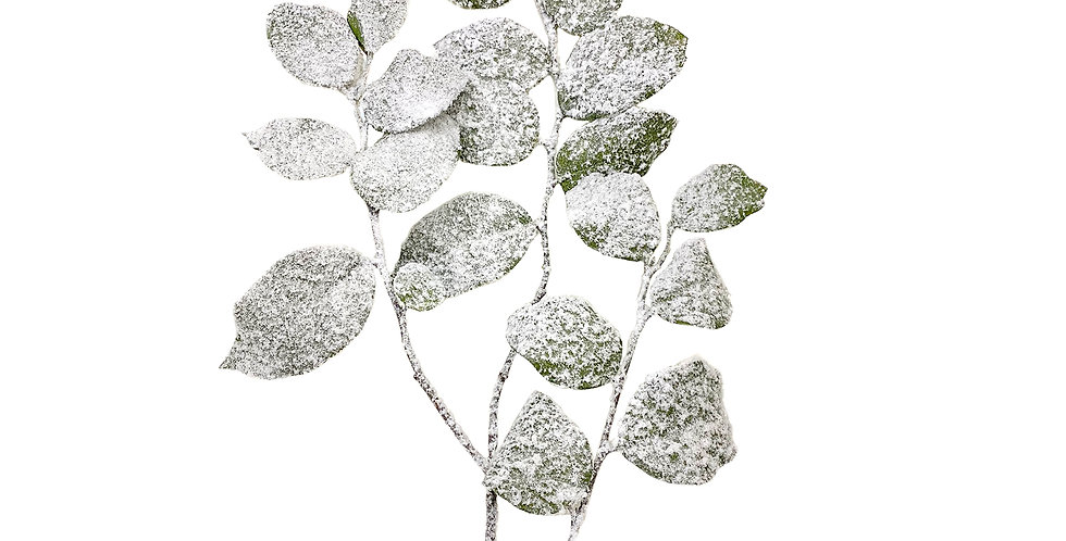 Ветвь гаультерии H112 см, заснеженная, пластик, зелёный