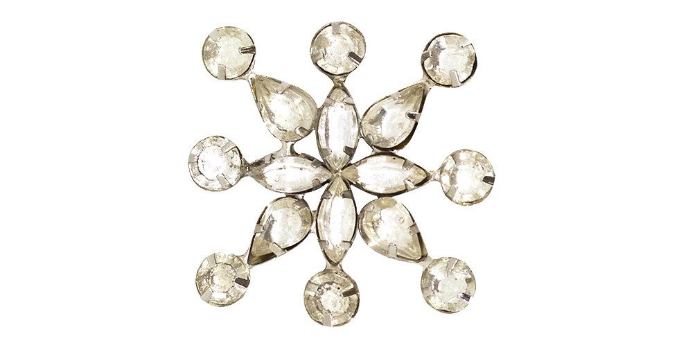 Кольцо для салфетки 6х6 см, металл/стекло