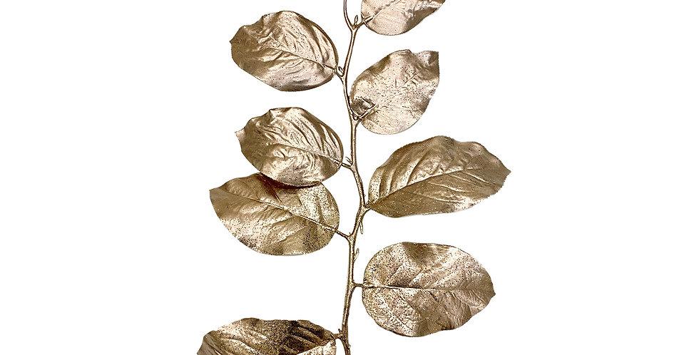 Ветвь гаультерии H76 см, пластик, розовое золото