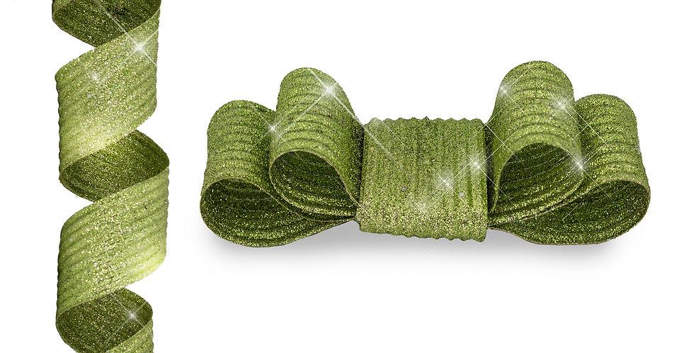 Лента с проволокой 180 см, зеленый