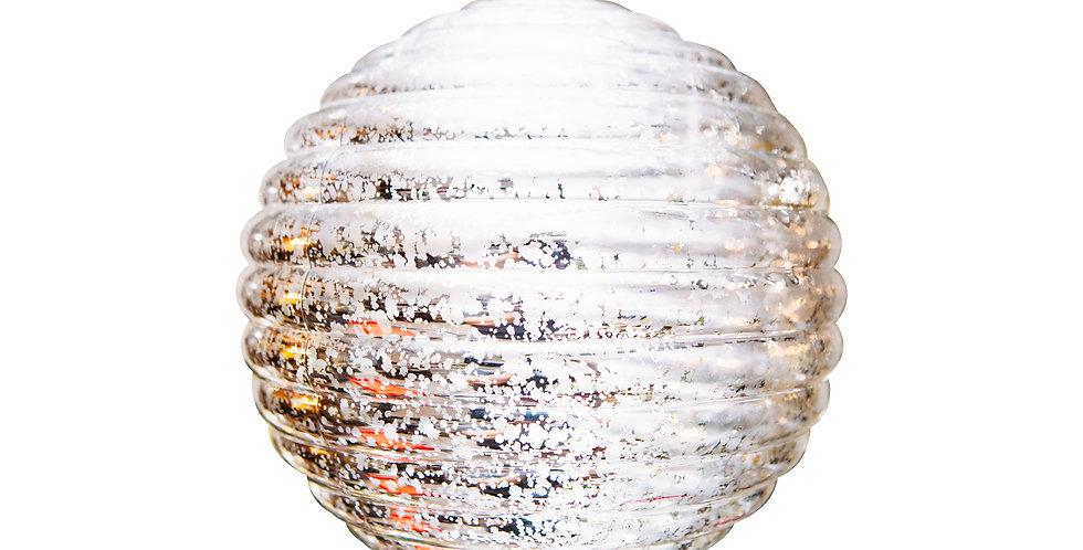 Шар D20 см, пластик, серебряный