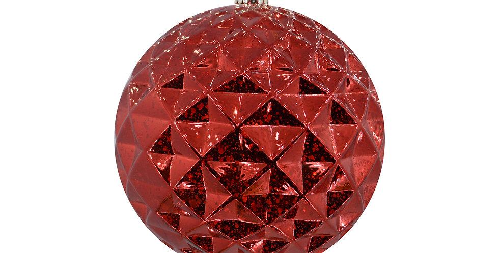 Шар D20 см, пластик, красный