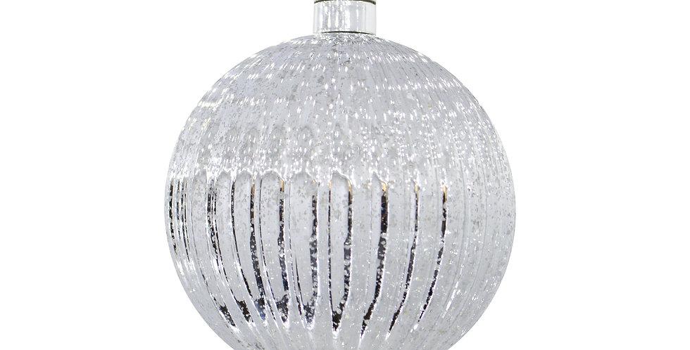 Шар LED D15 см, пластик, серебряный