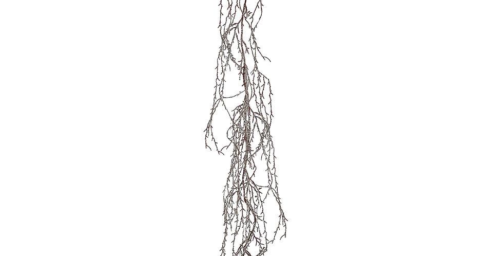 Ветка H180 см, заснеженная, коричневый