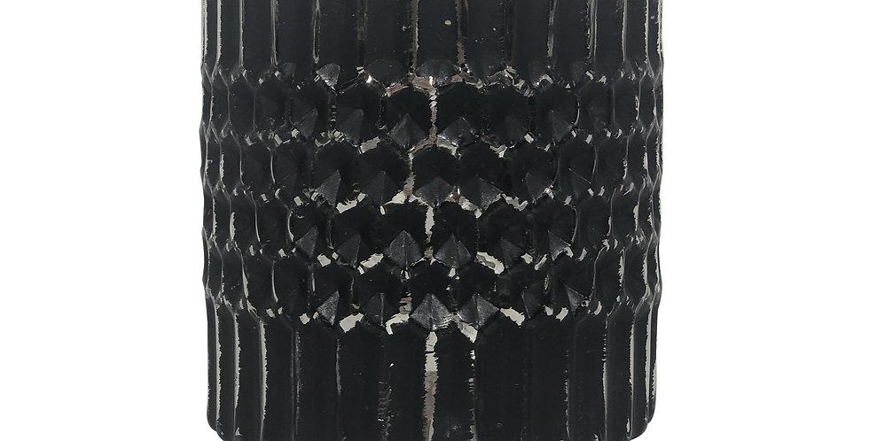 Подсвечник 10х10,5 см, стекло, чёрный