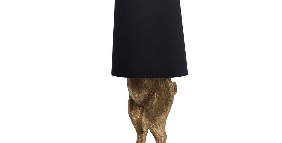 Светильник ЗАЯЦ 45х115 см, металл, золотой/чёрный