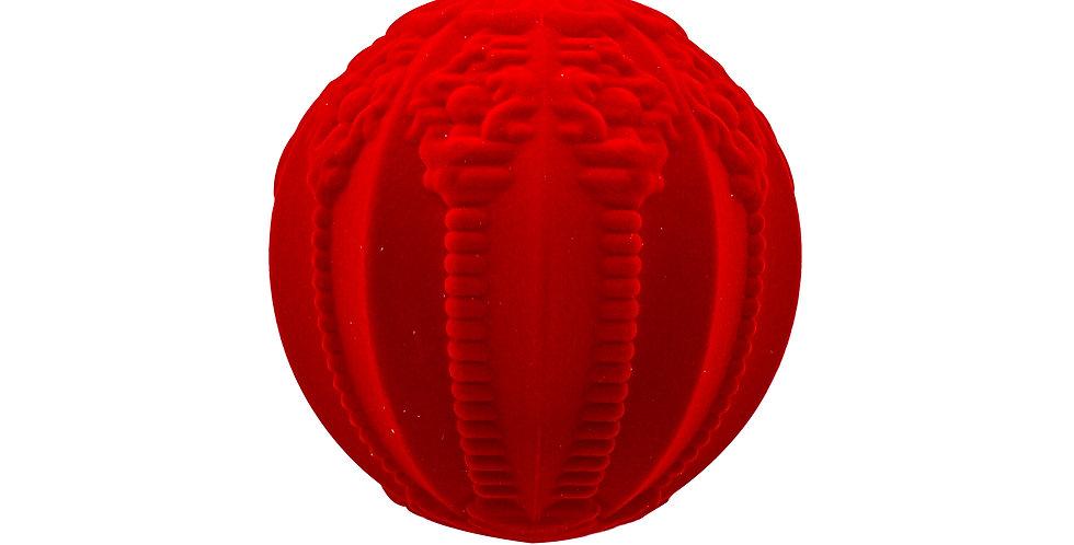 Шар D20 см, пластик/флок, красный