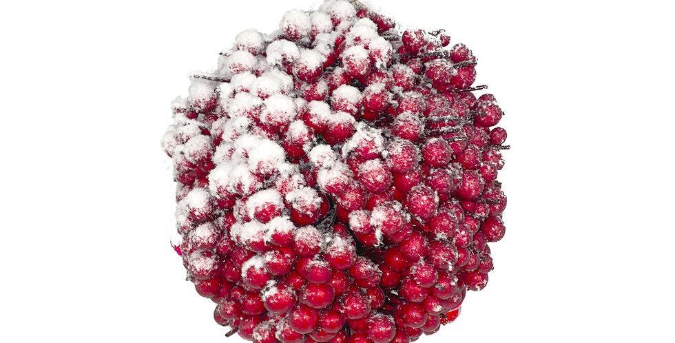 Шар из ягод D24 см, пенопласт, красный
