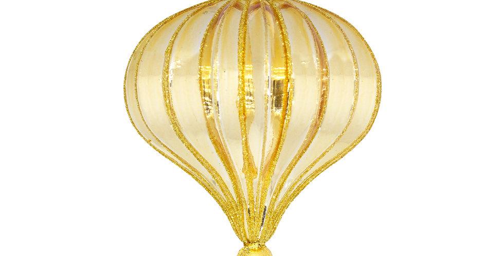 Шар КАПЛЯ D10 см, стекло, золотой