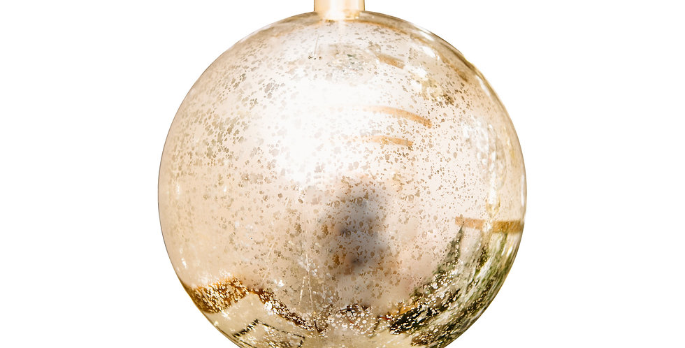 Шар LED D15 см, пластик, золотой