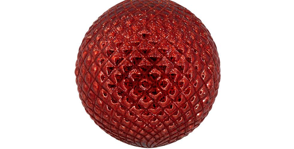 Шар D15 см, стекло, красный
