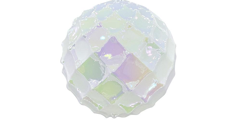 Шары D10 см в наборе, 4 шт, стекло, белый/радужный