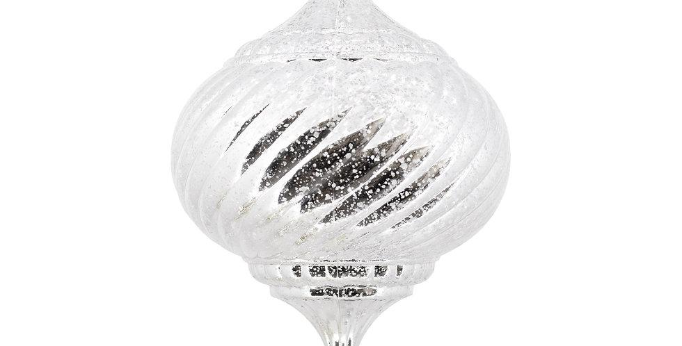 Шар LED КАПЛЯ D20 см, пластик, серебряный