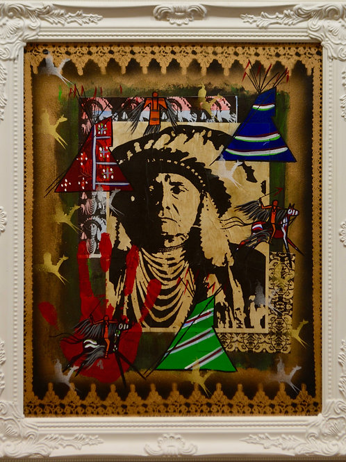 """""""Heart of the People III"""" Mixed Media on Canvas by Ben Nelson - 24"""" x 20"""""""