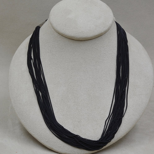 Long 20 Black Strand Carboned Steel by Michele McM